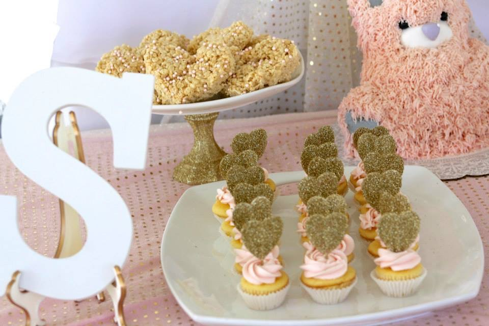 Cbaby Shower Cake Ideas Hot Pink And Gold