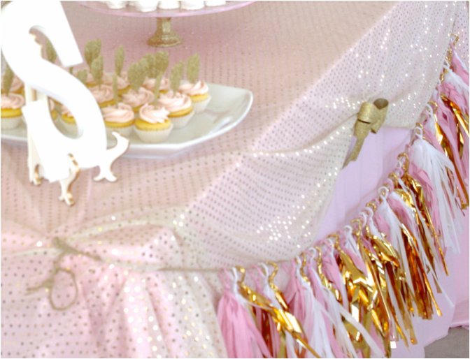 Save · Pink, Gold, And White Baby Shower   Food, Games, And Decoration Ideas