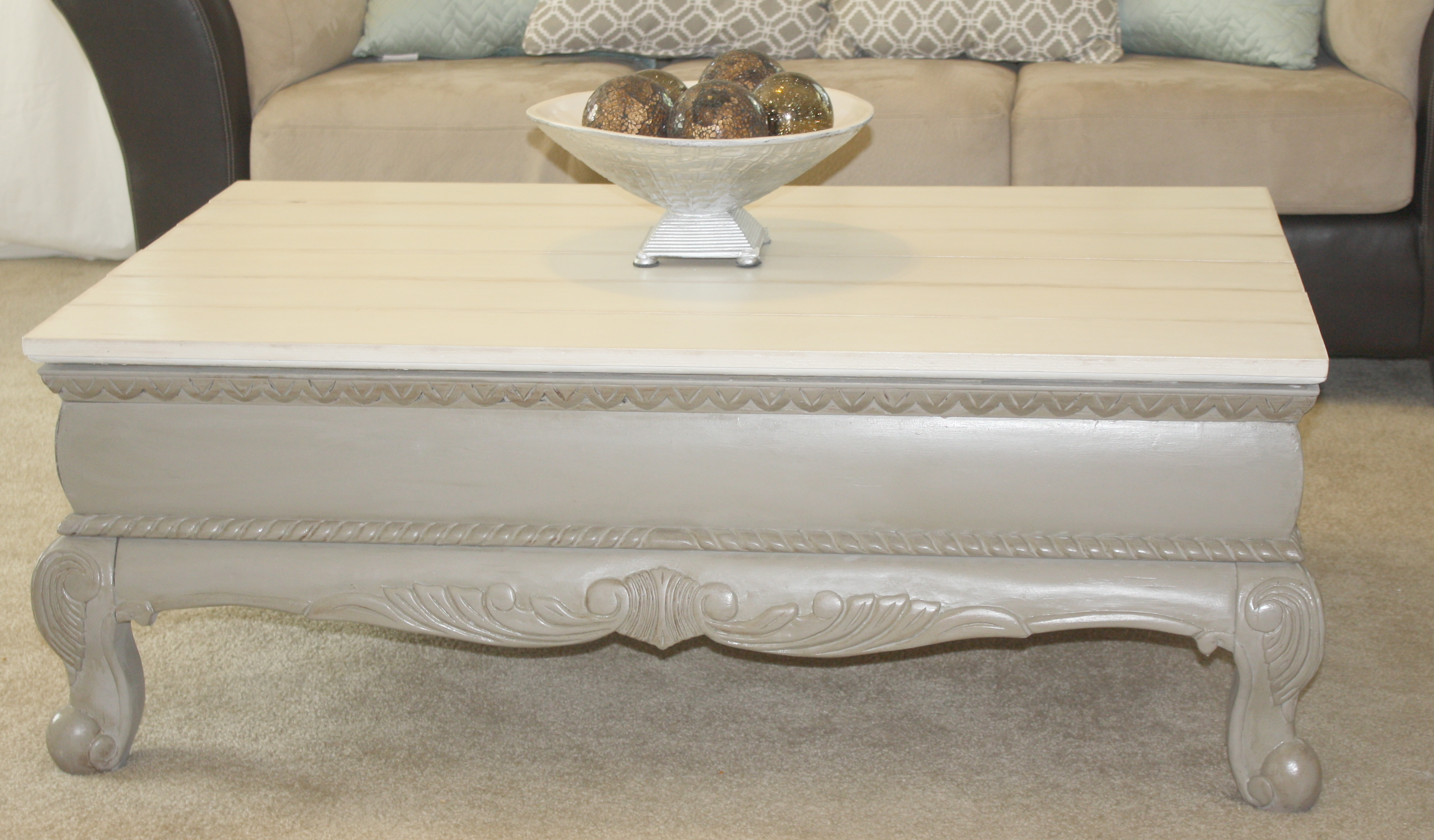Coffee Table Makeover With Chalk Paint Recipe Sincerely Jean