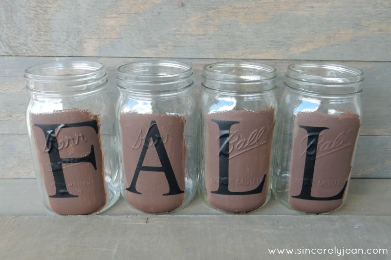 fall rustic mason jars