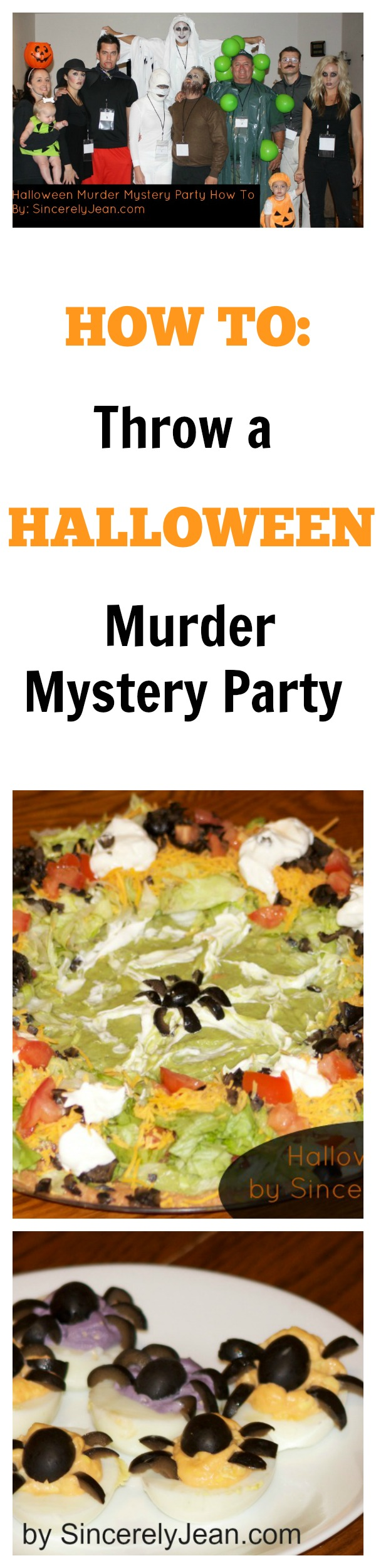 how to throw a halloween murder mystery party - sincerely jean
