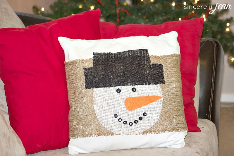 diy burlap pillow cover