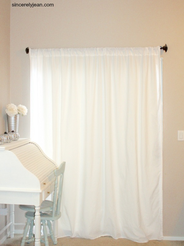 diy curtains out of sheets sincerely jean. Black Bedroom Furniture Sets. Home Design Ideas
