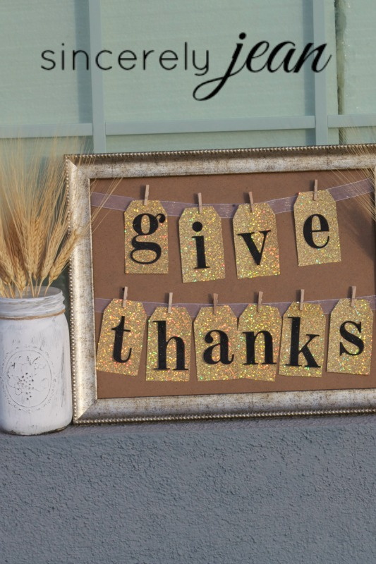 Give Thanks Picture Frame