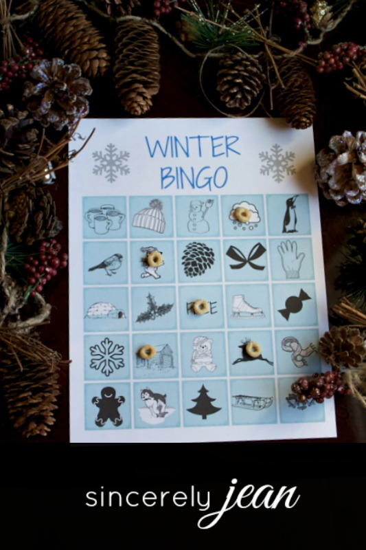 Printable Winter Bingo - Kids Activity