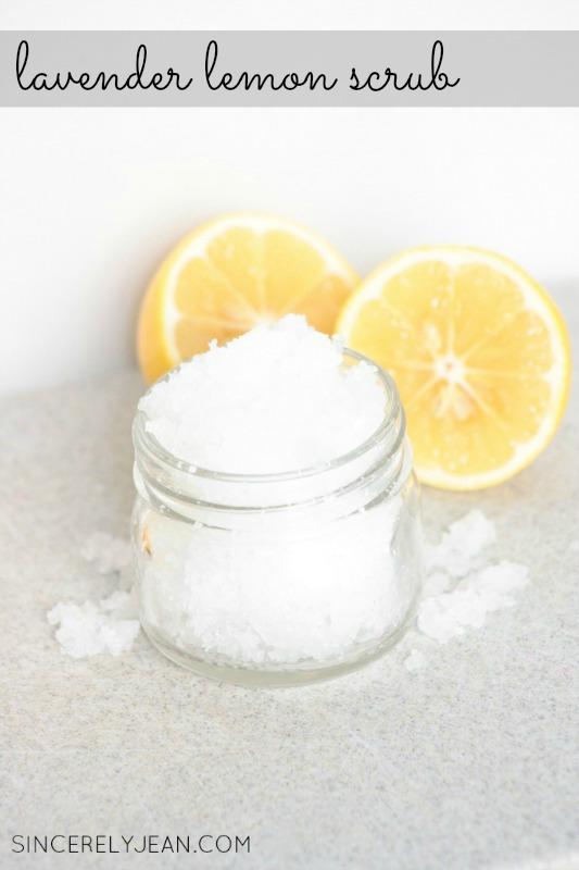 Lavender Lemon Salt Scrub