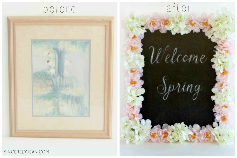 DIY Floral Chalkboard Tutorial with Video - Sincerely Jean