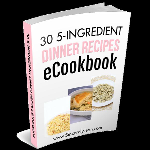 30 5-Ingredient Dinner Recipes eCookbook | www.sincerelyjean.com