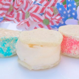 Red White and Blue Ice Cream Sandwiches
