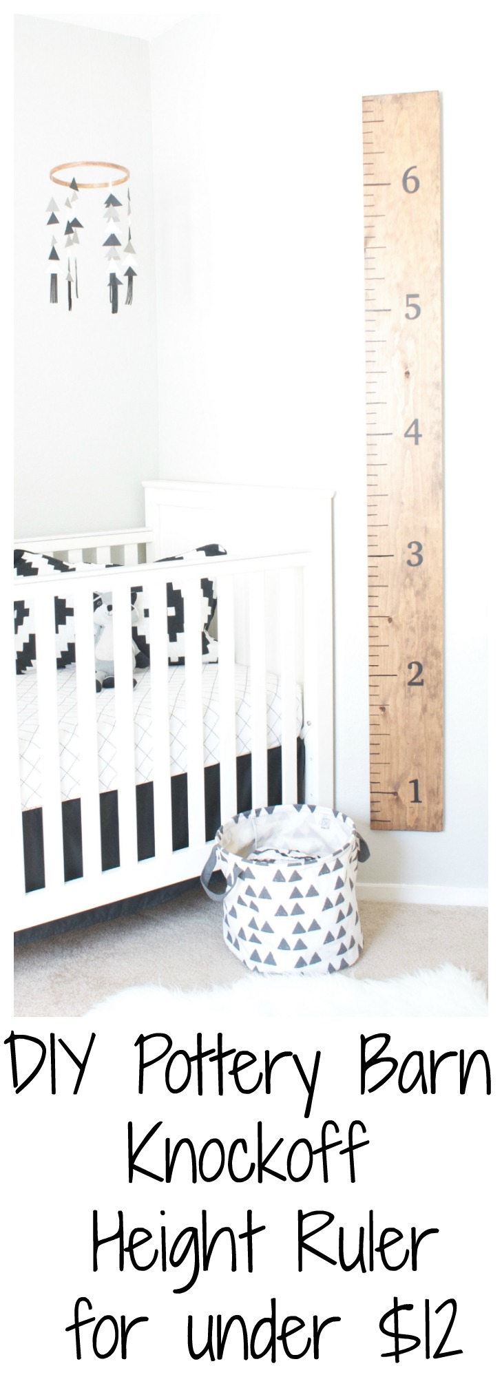 Diy Pottery Barn Knockoff Height Ruler For Under 12