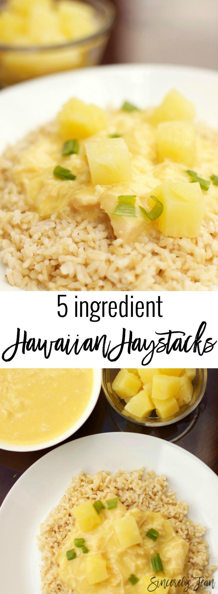 Simple dinners: Five ingredient Hawaiian Haystacks by SincerelyJean.com
