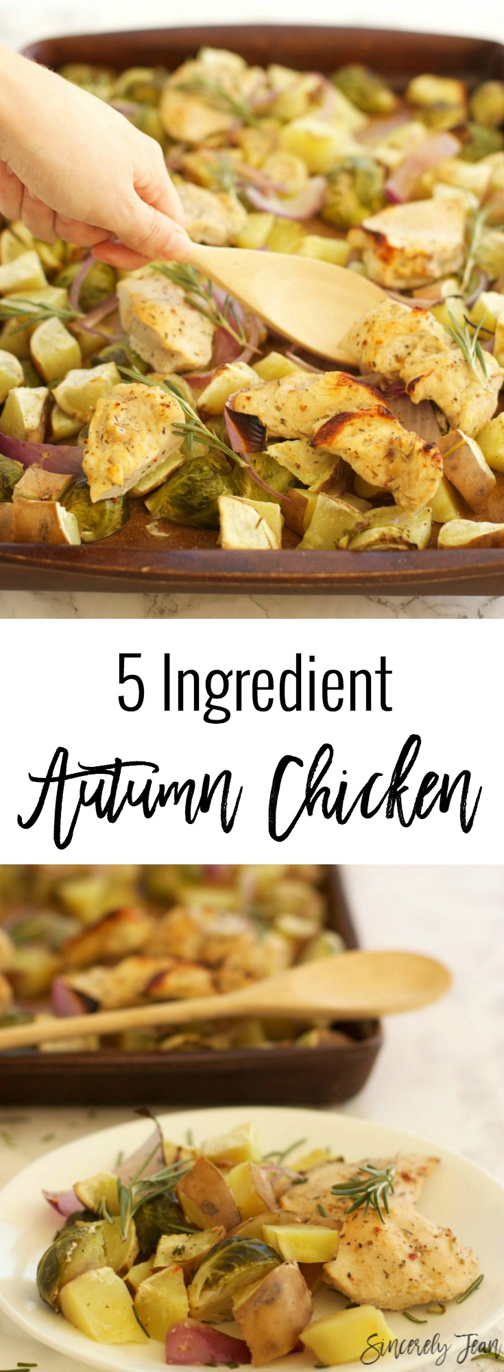 SIncerelyJean.com brings you Easy Fall Chicken with only 5 ingredients