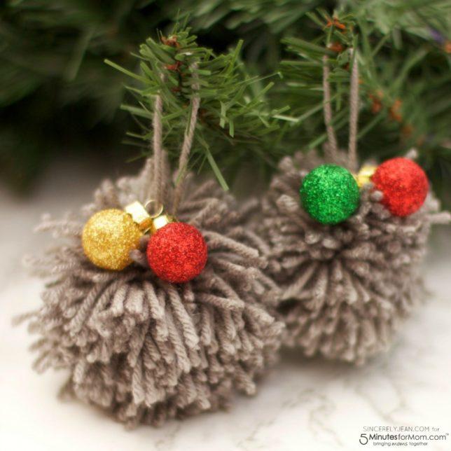 DIY Pom Pom Christmas Ornament