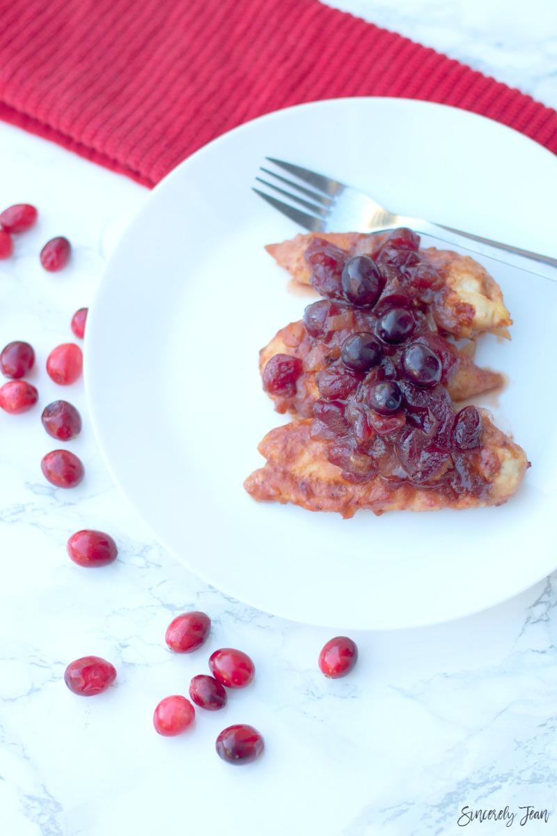5 ingredient cranberry chicken