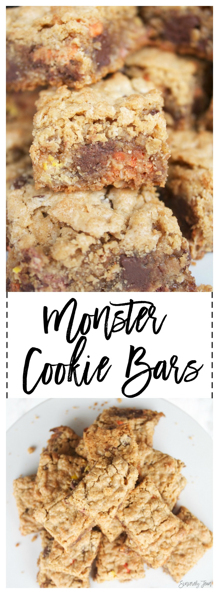 Monster Cookie Bars -delicious - easy -simple- dessert - cookies