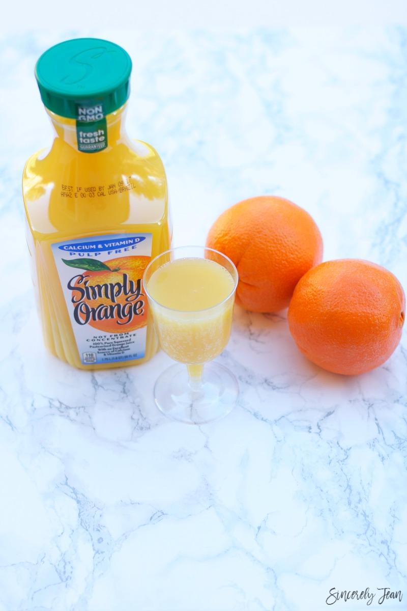 Non Alcoholic Mimosa Recipe by SincerelyJean.com