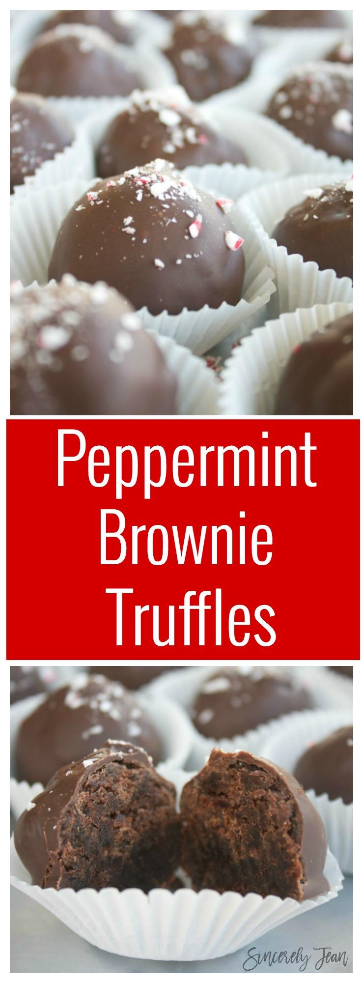 Peppermint Brownie Truffles- christmas- holiday - dessert -