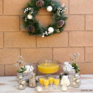 White Christmas Brunch theme ideas by SincerelyJean.com