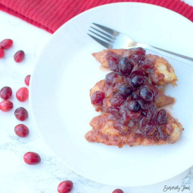 5 Ingredient Crock-Pot Cranberry Chicken