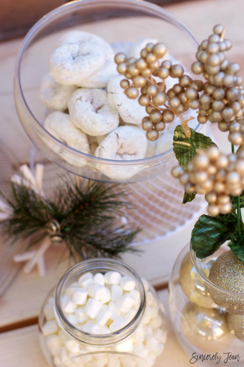 White Christmas Party decor by SincerelyJean.com