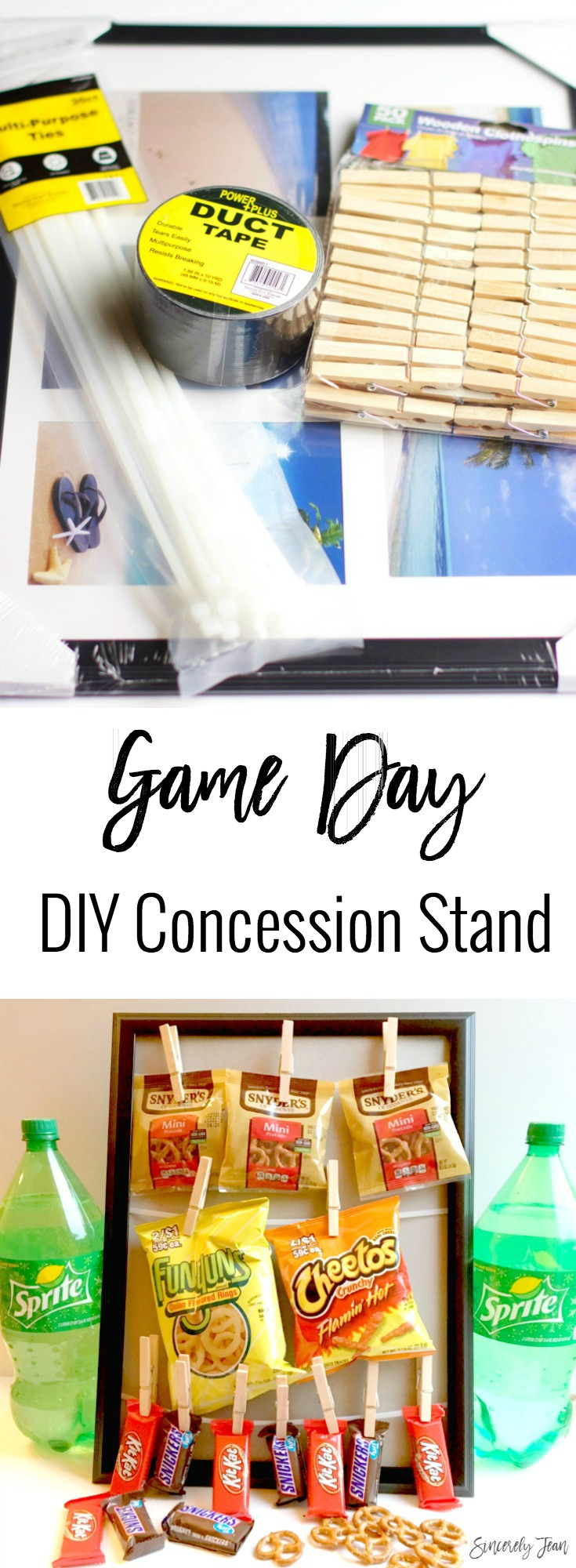 Decorations for Superbowl! DIY Concessions Stand Tutorial by SincerelyJean.com