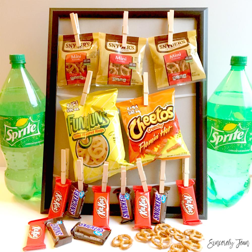 SincerelyJean.com Simple DIY: Game Day Snack Bar